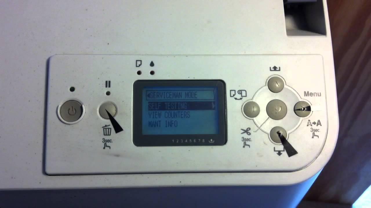 Epson L130 Self Test