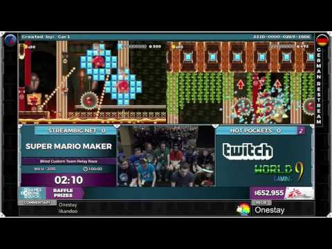[GER] SGDQ 2016 German Restream: Super Mario Maker Blind Custom Team Relay Race