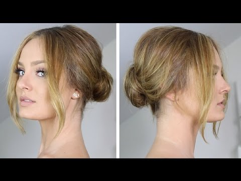 Easy Chic Low Chignon Bun Hair Tutorial Youtube