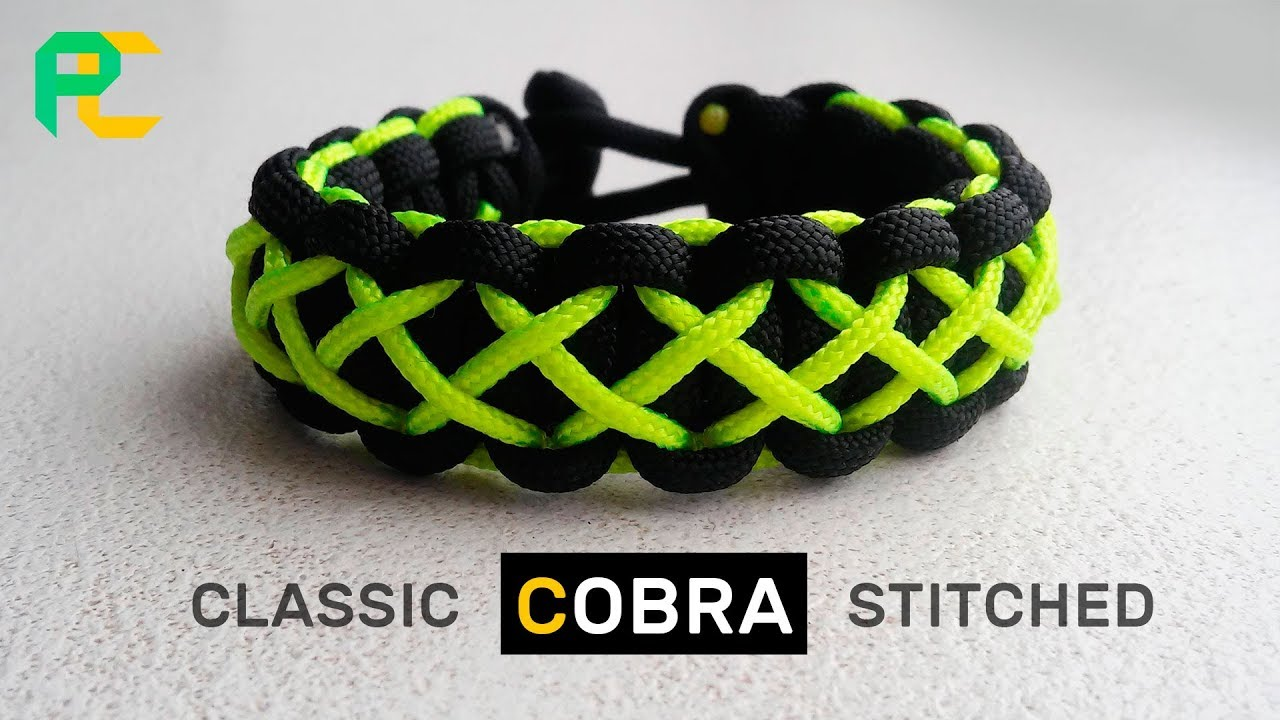 Paracord Bracelet Cobra Stitched With Minicord Youtube