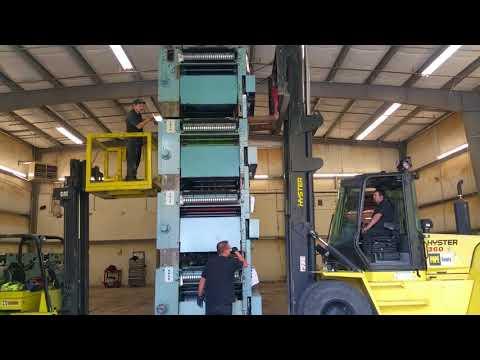 Lifting a 13000lb Urbanite 25 feet up 4 high