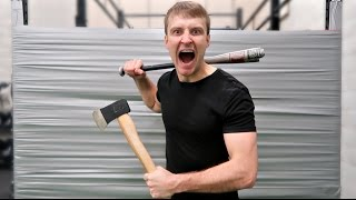One of JustDustin's most viewed videos: 100 LAYERS OF DUCT TAPE (DANGER ALERT) UNBREAKABLE WALL
