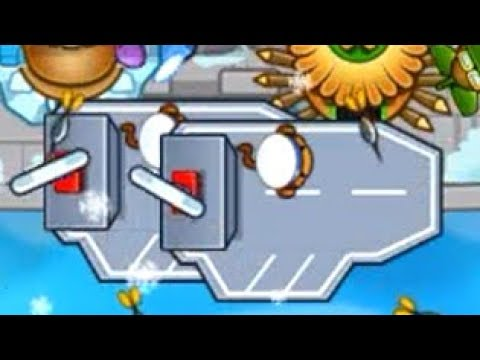 Boat + Ice + Village Strategy - The Only Time Aircraft Carrier Is Ever Useful (Bloons TD Battles)