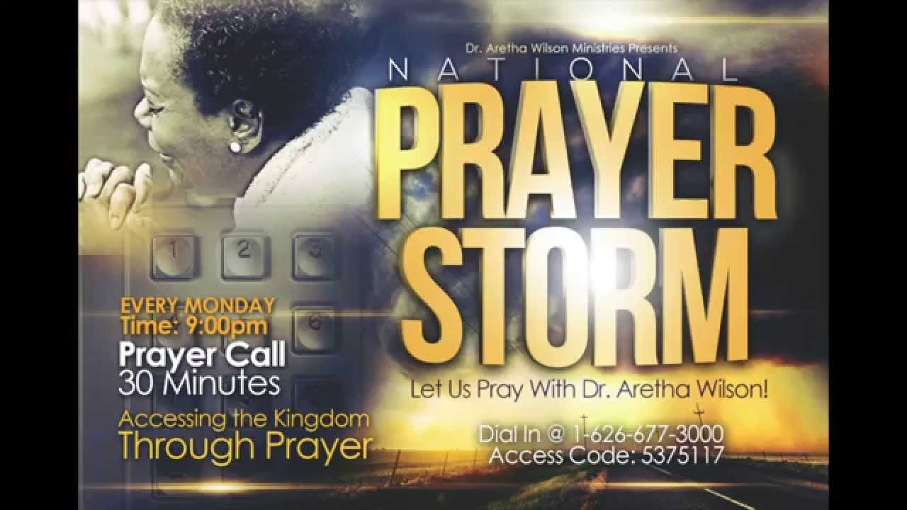 'Prayer Storm' with Dr  Aretha Wilson - Strength during Tests & Trials
