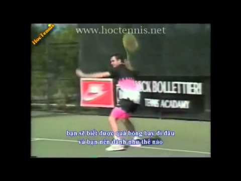 Qua Thuan tay Agassi- hoc tennis- Урок теннис удар справа