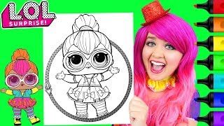 Coloring LOL Surprise Dolls Neon QT Coloring Page Prismacolor Paint Markers | KiMMi THE CLOWN