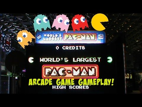 Playing The World's LARGEST Pac-Man | Arcade Games Fun | Jdevy