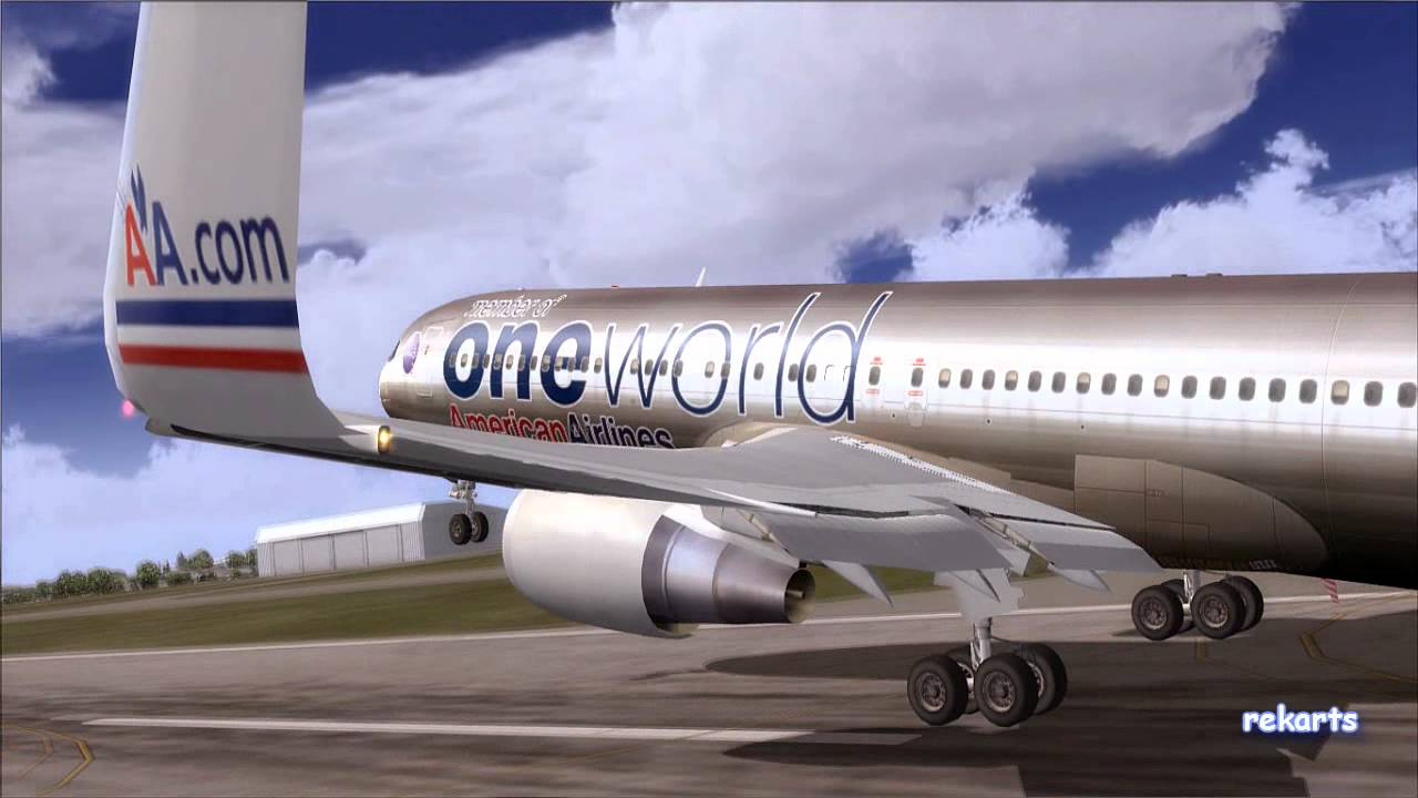 Leaving on an American Airlines 767-300 [FS2004]