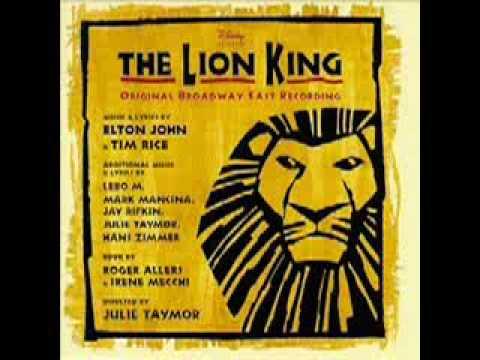 The Circle of Life (lyrics) Broadway Lion king