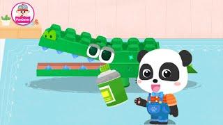 Xưởng làm đồ chơi của Gấu Trúc Kiki - Làm con Cá Sấu từ khay đựng trứng