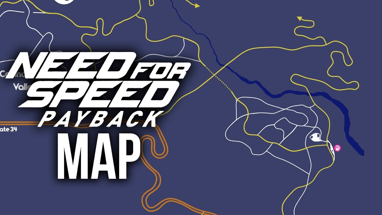 Payback Mini Karte.Need For Speed Payback Map Size Details