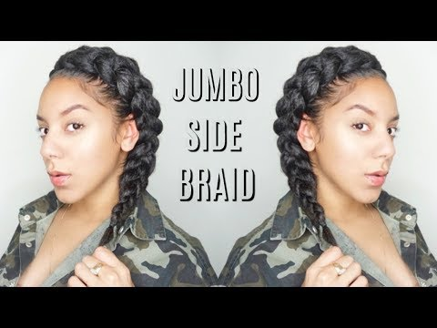 HOW TO: JUMBO SIDE DUTCH BRAID TUTORIAL | NATURAL HAIRSTYLE