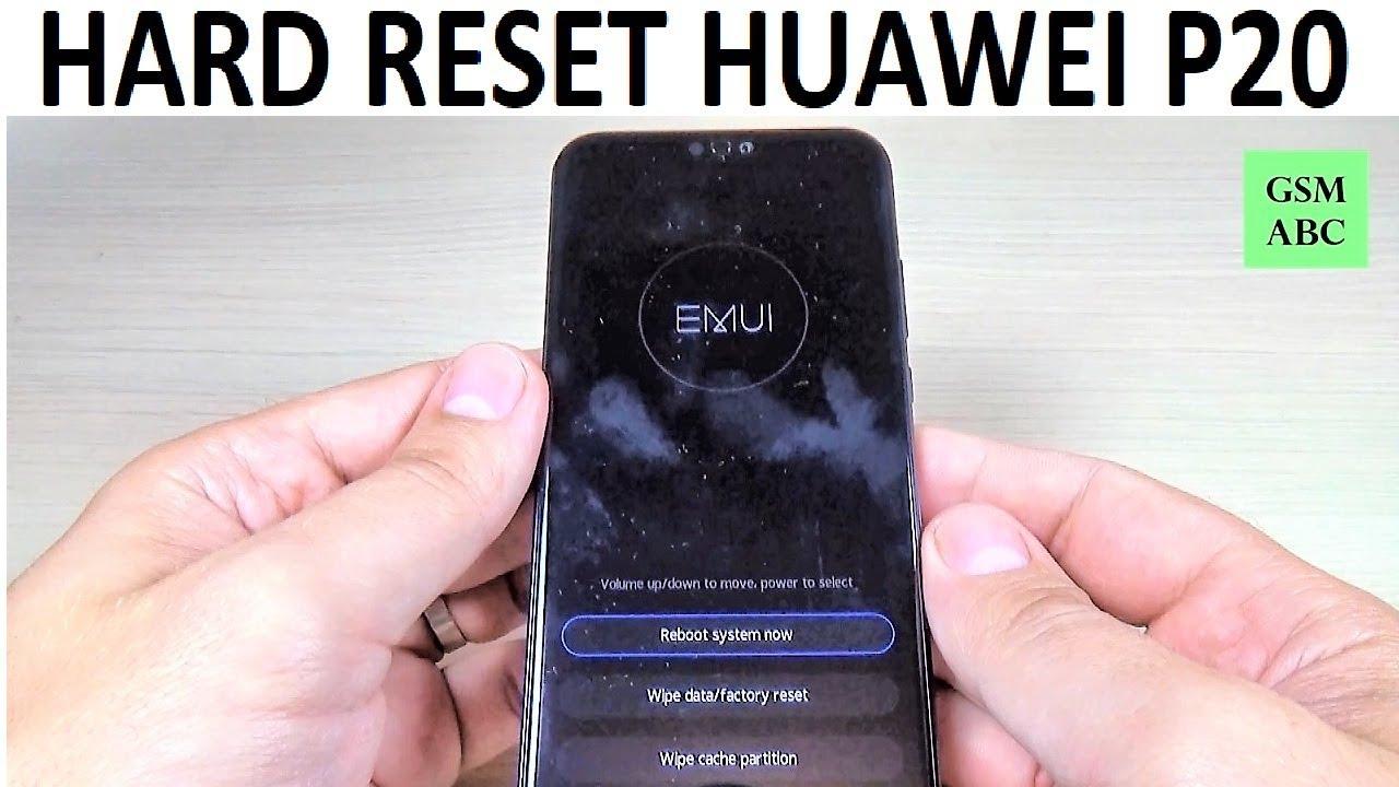 HARD RESET Huawei P20, P20 Lite, P20 Pro