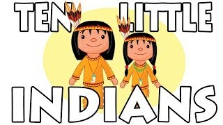 Ten Little Indians | Nursery Rhymes with Lyrics