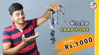 Best Budget Earphones/Headphones Under Rs.1000 in 2019 | Tamil Tech