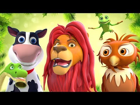 Animal Sounds Song   Nursery Rhymes & Baby Songs   Kindergarten Cartoons By Little Treehouse