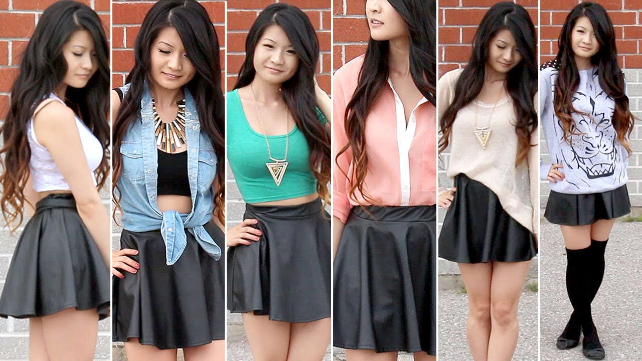 Cute Outfits With Leather Skirts
