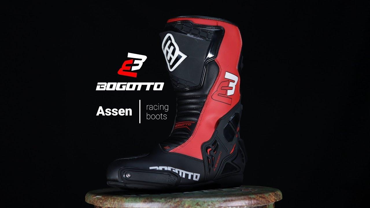 Bogotto Assen Evo Bottes de moto Noir//Blanc 40