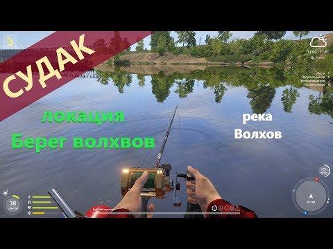 Русская рыбалка 4 - река Волхов - Судак у гаражей