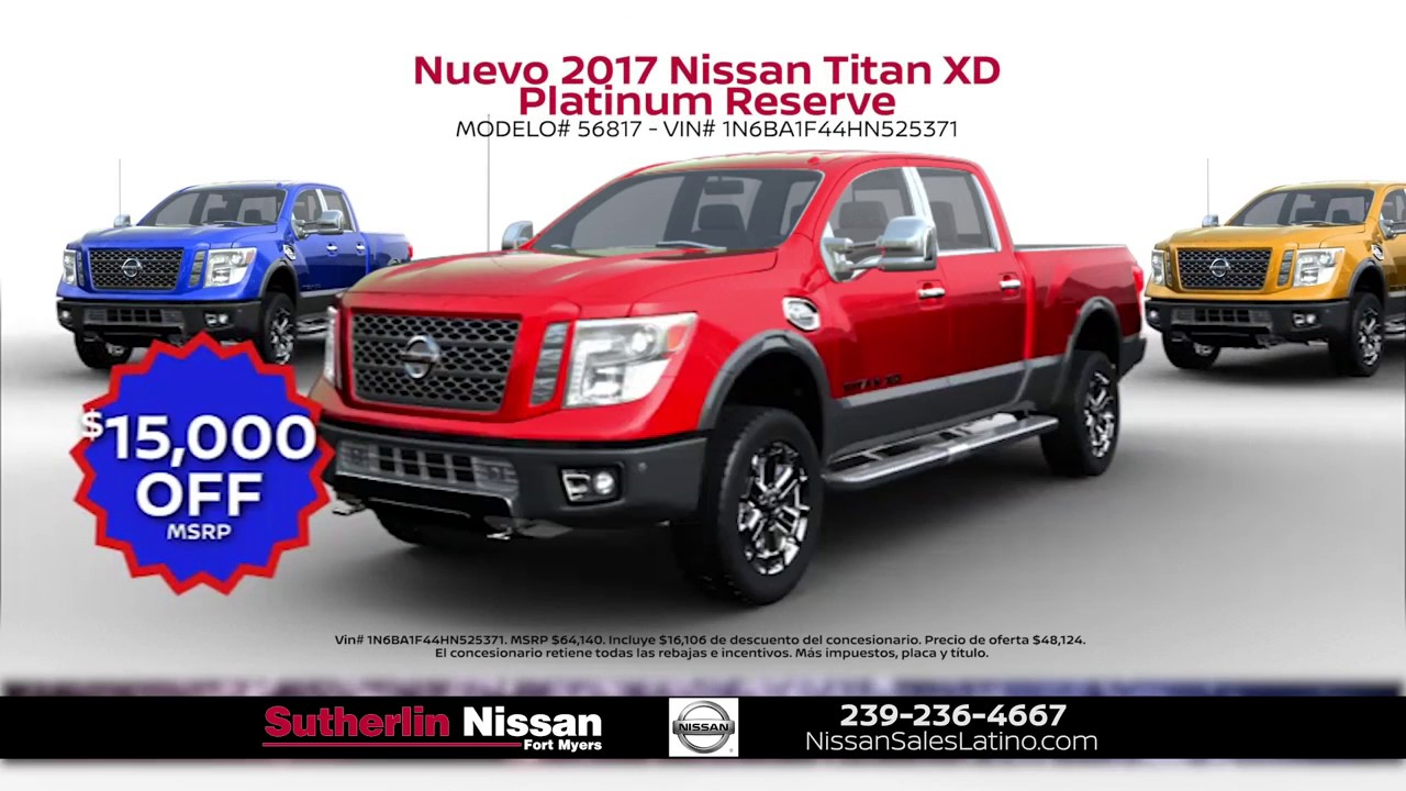 sutherlin nissan fort myers hispanic may promotion youtube. Black Bedroom Furniture Sets. Home Design Ideas