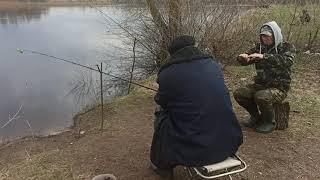 Рыбалка на реке Припяти апрель