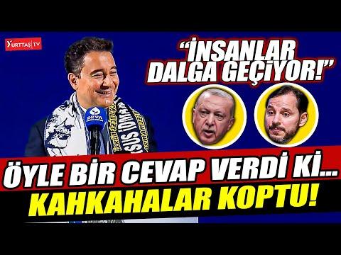 Ali Babacan Erdoğan ve Berat Albayrak'a öyle bir cevap verdi ki... Kongre salonu