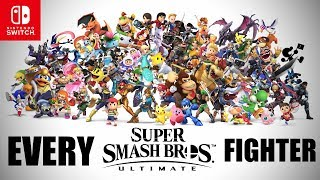 ALL 63 SMASH ULTIMATE FIGHTERS! [Super Smash Bros. Ultimate] Nintendo Switch