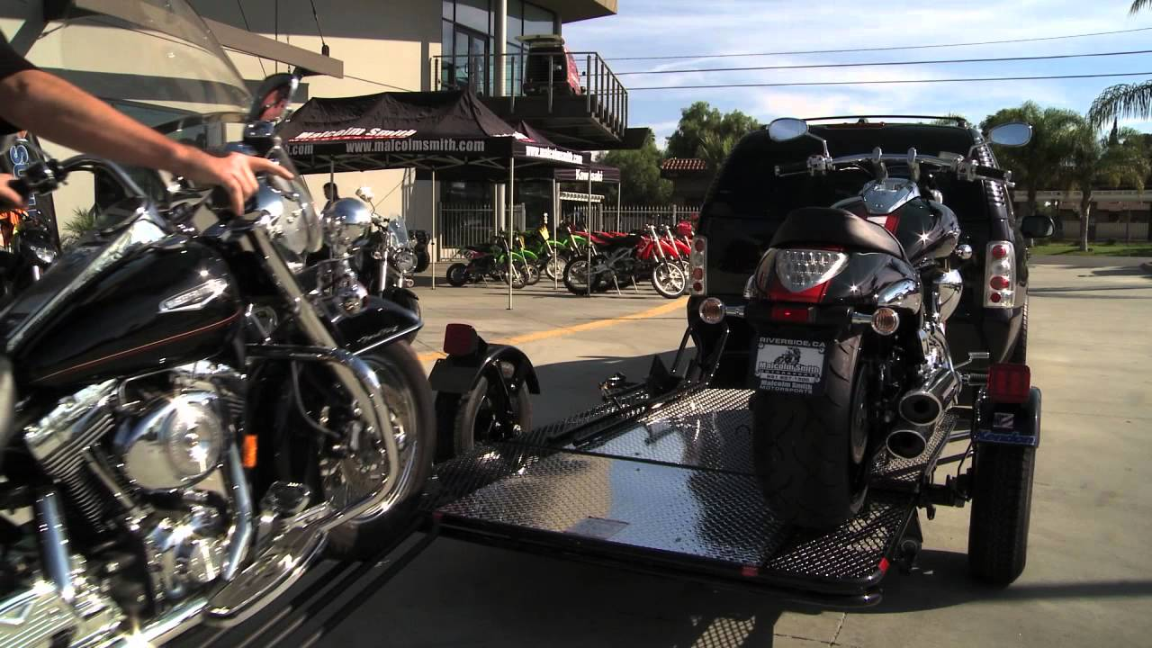 Kendon Dual Stand Up Motorcycle Trailer Youtube