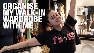 CLEAN + ORGANISE WITH ME | ORGANISING MY WALK IN WARDROBE | KAUSHAL BEAUTY