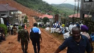 Aftermath of Landslide in Regent,  Freetown, Sierra Leone