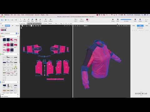 Jacket Design In 3d Using Lotta And Vstitcher Youtube