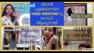 💓My Youtube Studio Setup I DIY Ring Light I Getting Ready for Video Shoot I Malayali Youtuber💓