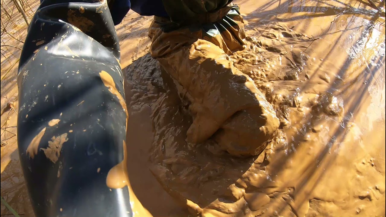 Download Waders, wellies and helly hansen nusfjord bibs in clay mud 3