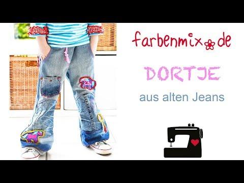 Videoanleitung Dortje Basic Hose aus alten Jeans Upcycling