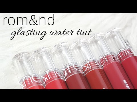 BIYW Review Chapter: #301 ROMAND GLASTING WATER TINT SWATCH & REVIEW