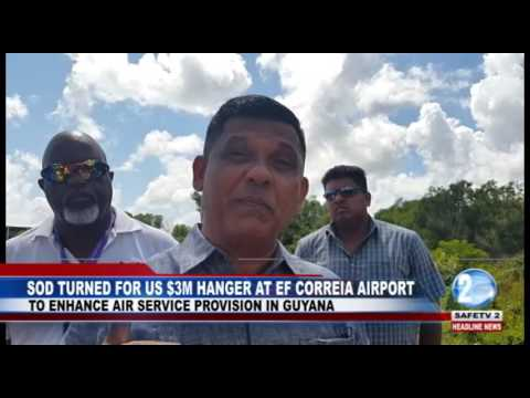 SOD TURNED FOR US $3M HANGER AT EF CORREIA AIRPORT
