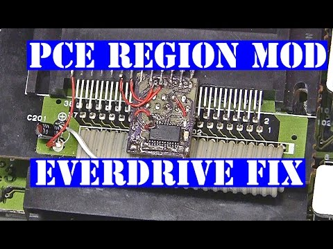 PC Engine Core Grafx 2 region mod issues with turbo everdrive fixed