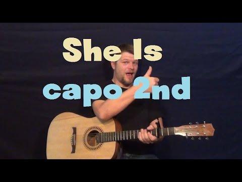 She Is (Ne-Yo ft. Tim McGraw) Easy Guitar Lesson Strum Fingerstyle ...