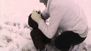 Baby first time in the Snow