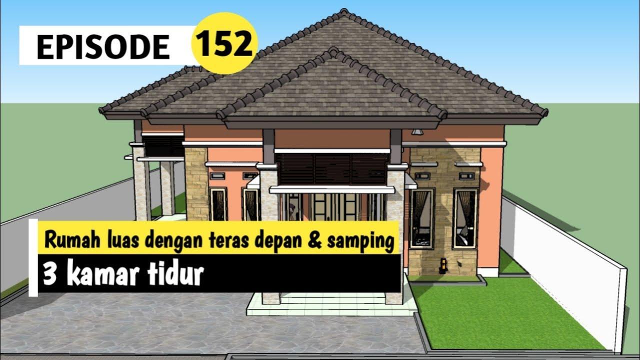 Rumah Megah Dengan Teras Depan Samping 8 X 10 2 Meter Youtube
