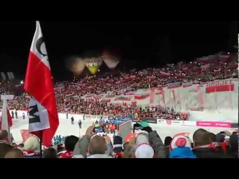 Cudownie zaśpiewany przez 60 tys. fanów Hymn Polski dla Kamila Stocha - Zakopane 22.01.2017