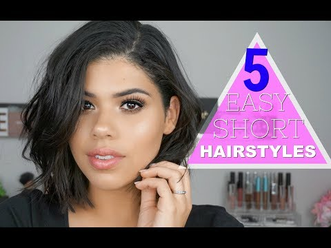 10 SECOND HAIRSTYLES | 5 EASY SHORT HAIRSTYLES