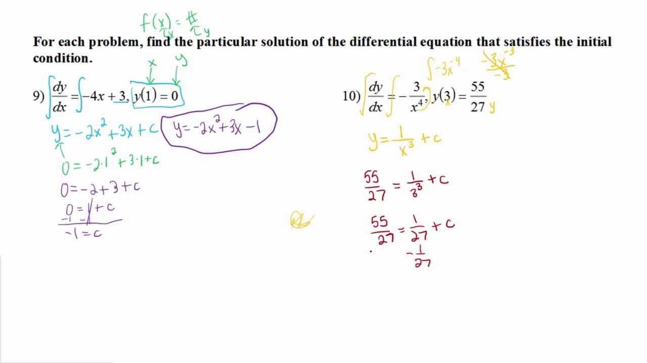 10.5 Differential Equationsap Calculus
