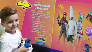 TRUMAnn Giving His 6 Year Old Kid NEW SUMMER LEGENDS PACK/BUNDLE!! (3 NEW Fortnite Skins)
