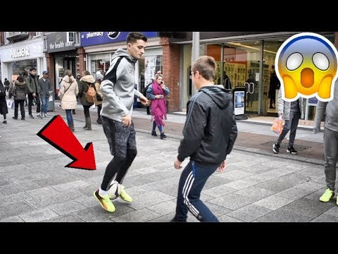 NUTMEGGING PEOPLE IN IRELAND !? (FUTURE FOOTBALL BOOTS)