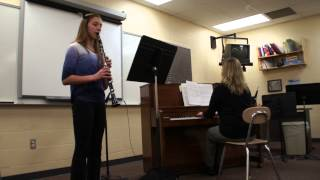 Lindsay's 7th Grade Clarinet Solo--Judge Says Perfect!