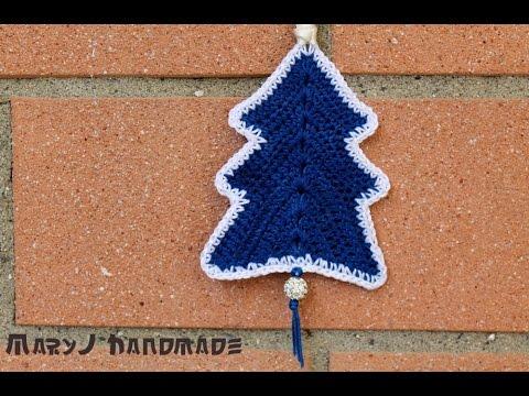 Presina Albero Di Natale Uncinetto.Albero Di Natale All Uncinetto Crocheted Christmas Tree