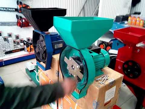 Зернодробилка эликор 3 бытовой прибор на 380в для переработки зерна.
