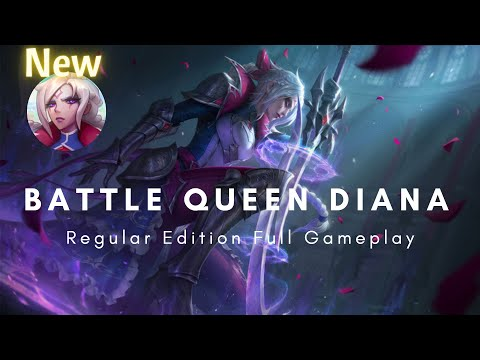 New Battle Queen Diana Skin - PBE Full Gameplay