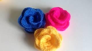 Простая роза крючком.Часть 1./ A simple rose crochet. Part 1.
